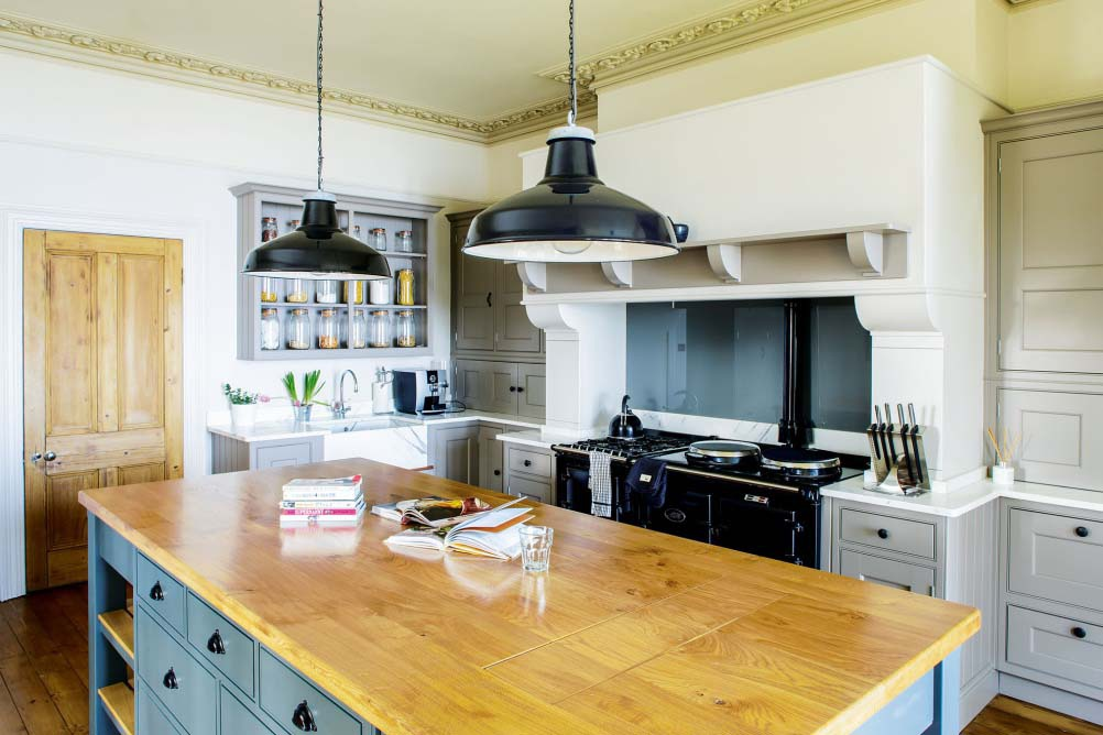 Virtuves dizains kantrī stilā